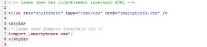 CSS-Angaben können nachgeladen werden.