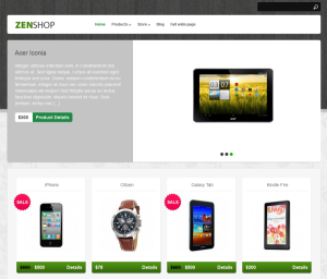 Zenshop Theme Screenshot