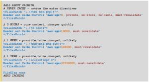 Angaben in der Datei .htaccess