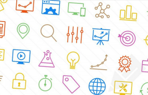 Minimalistisches SEO Icon Set