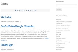 Mit WordPress ein Glossar erstellen