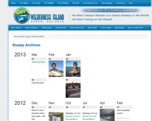 Attraktive Archivdarstellung der Blog-Inhalte