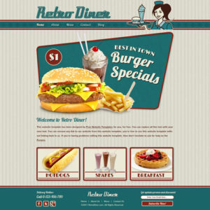 Retro Diner Website Template