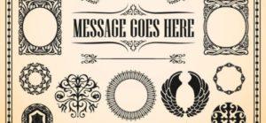 Kalligrafie Ornamente Vektorpaket