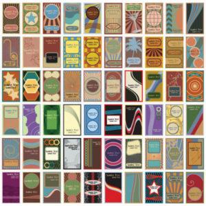 Vintage Karten-Vorlagen