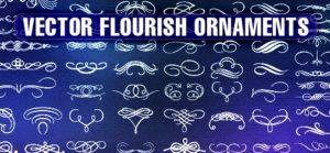 Vektorvorlage blumenartige Ornamente