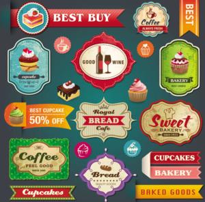 Retro-Sticker und Auszeichnungen