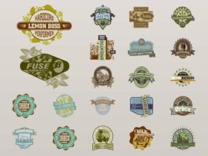 Retro-Badges