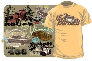 Vintage-Druckvorlagen für T-Shirts