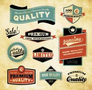 Vintage-Labels