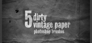 5 Grunge-Vintage-Papier Pinselspitzen