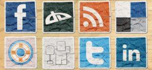 Vintage Social Media Icon Set
