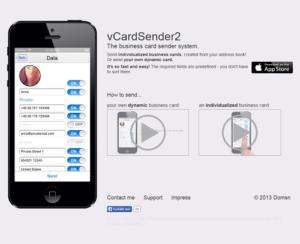 vCardSender2