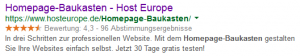 Google-Suchergebnis zu Homepage-Baukasten