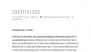 Seite 2 - Mehrseitiger WordPress-Beitrag (individuelle Title)