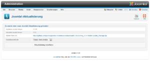 Joomla - Aktualisierung starten
