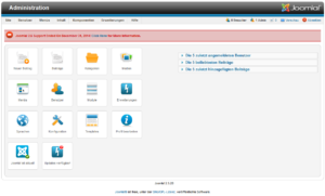 Joomla - Kontrollzentrum