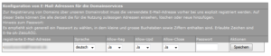 Konfiguration der Kontakt-E-Mail-Adresse