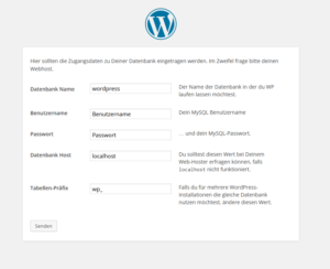 WordPress-Installation konfigurieren