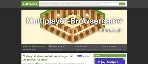 NodeCode Homepage