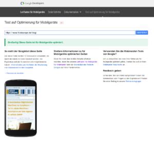 Tool Check für das Google Mobile Update 3