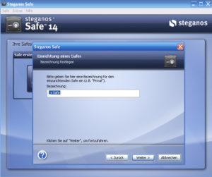 Abbildung - Steganos Safe-einrichten