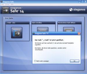 Abbildung - Steganos Safe-einrichten_Öffnen