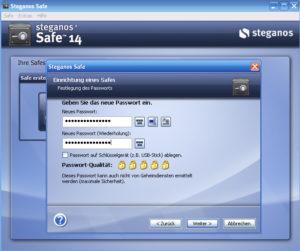 Abbildung - Steganos Safe-einrichten_Passwort