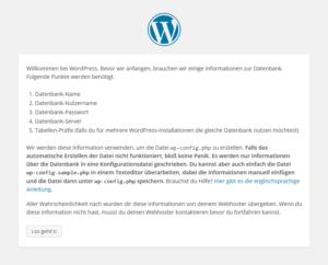 WordPress-Eröffnungsfenster