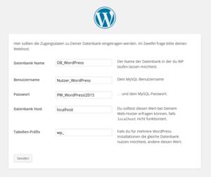 WordPress_Anmeldeinformationen