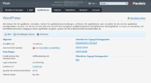 WordPress_Applikation_Einstellungen