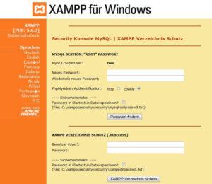 XAMPP Sicherheitscheck