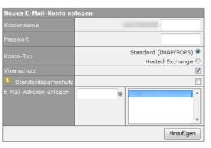 Abbildung: E-Mail-Konto anlegen
