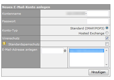 eigene e mail adresse einrichten