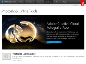 Abbildung: Photoshop Express Editor