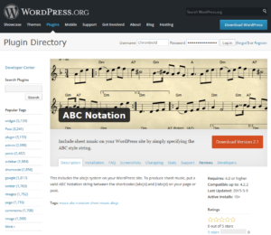 WP-Plugin ABC Notation