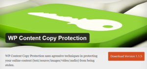 Abbildung: WP Content Copy Protection