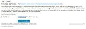 Abbildung _ Plesk - SSL-Zertifikat hochladen