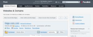 Abbildung: Domain_Hosting-Einstellungen