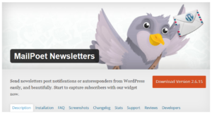 Abbildung: WordPress Plug-In MailPoet Newsletters