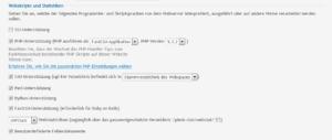 Abbildung: Umstellung auf native PHP-Version von Ubuntu 10