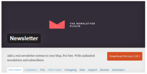 Abbildung: WordPress Plug-In Newsletter