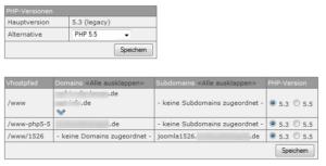 Abbildung - PHP-Umstellung einzelner Domains auf PHP_5-5
