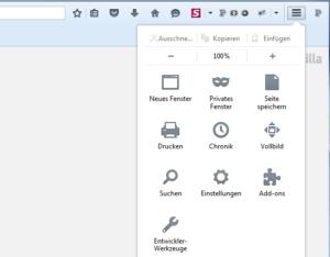 Abbildung: Mozilla-Einstellungen