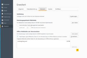 Abbildung: Mozilla-Erweiterte Einstellungen