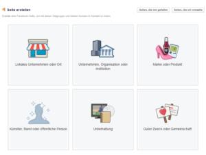 Abbildung - Facebook-Unternehmensseite erstellen