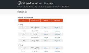 Abbildung - Sicherheits-Updates_ältere WordPress-Versionen