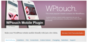 Abbildung - WPtouch Mobile Plugin