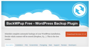 Abbildung - WordPress Backup Plugin