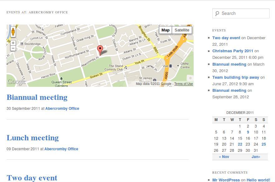 Event Calendar For Organization : Das alphabet der sidebar widgets wordpress boosting